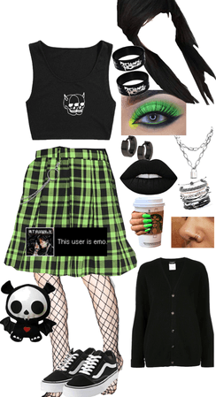 Emo with a Pop of Green