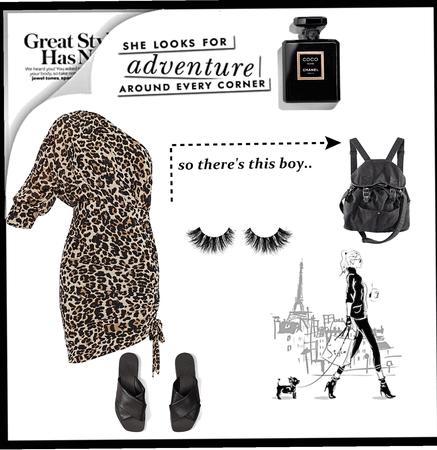 cheeta print dress