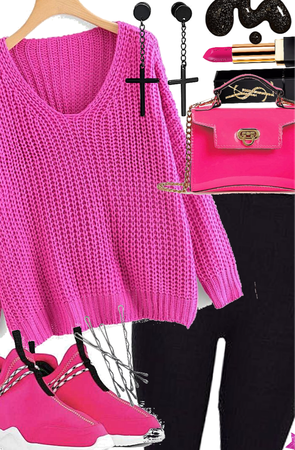 💖🖤Neon Pink and black🖤💖