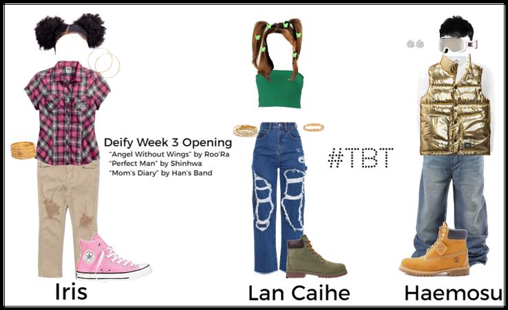 #TBT Iris, Lan Caihe, & Haemosu Week 3 Deify Looks