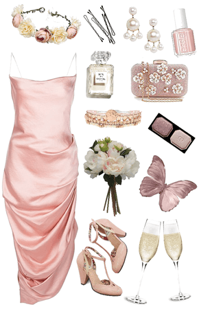 pink and champagne