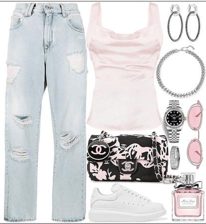 fast,east, & cute pink  casual look
