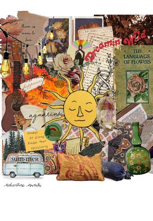 boho aesthetic collage