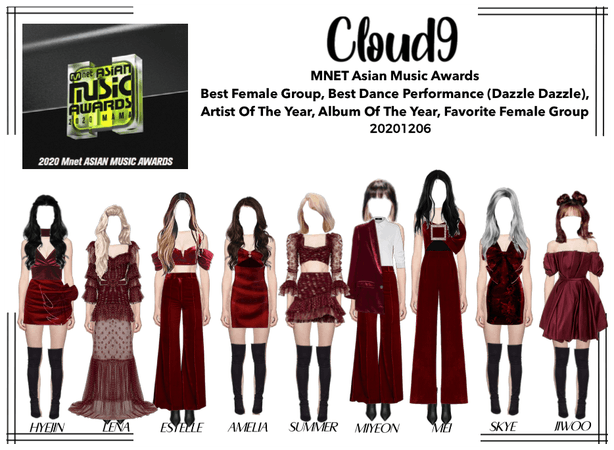 Cloud9 (구름아홉) | MNET 2020 Red Carpet | 20201206