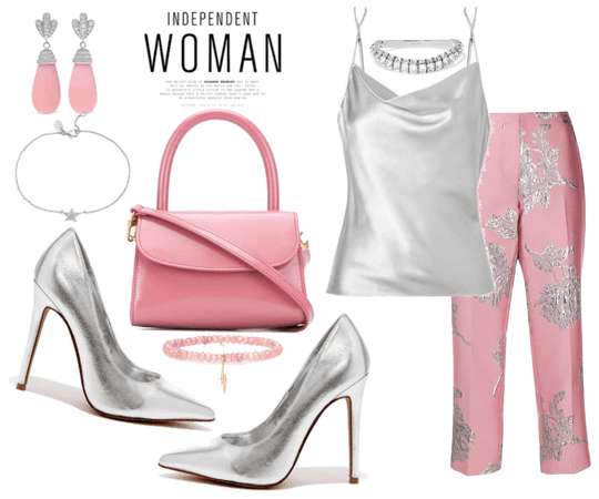 silver and pink