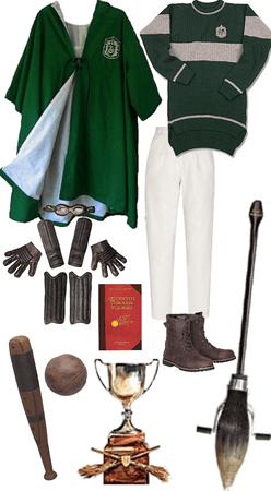 My Slytherin Quidditch Uniform