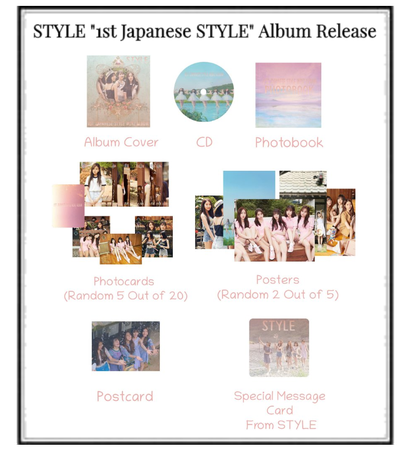 """STYLE """"1st Japanese STYLE"""" Album Release"""