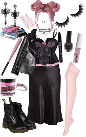 pink goth grunge