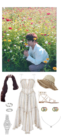 flower viewing with Kai
