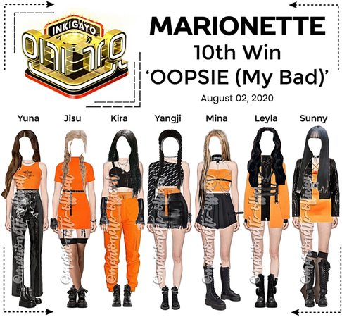 MARIONETTE (마리오네트) [INKIGAYO] 'OOPSIE (My Bad)'   10th Win