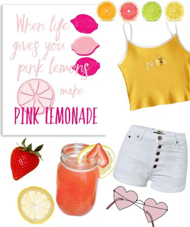 pink lemonade 🍋🍓