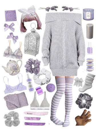 Lavender & Grey For A Cosy Day