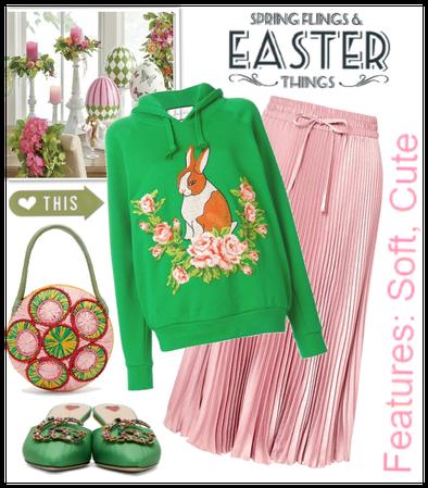 Happy fashion easter