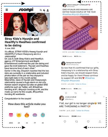HEARTFLY (하트플라이요) [HWAHWA + SKZ's HYUNJIN] SOOMPI CONFIRMED DATING ARTICLE