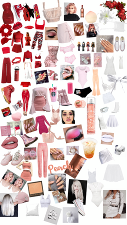 red,pink,peach,and white