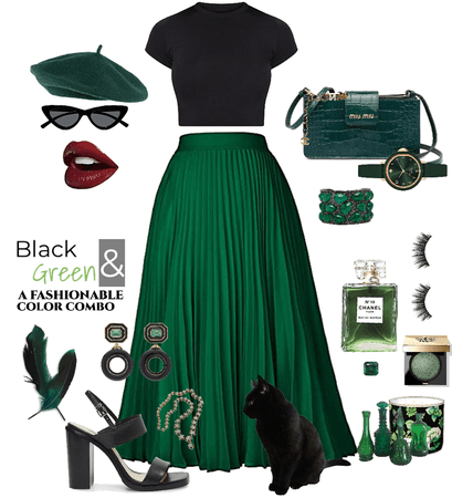 Black 🖤and💚 Green