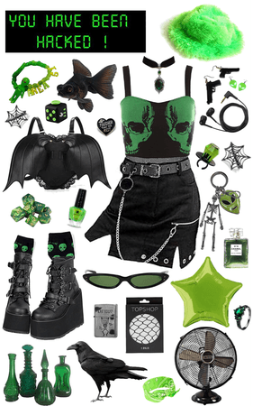 neo goth neon green