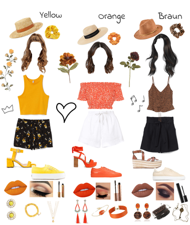 Yellow, Orange & Braun