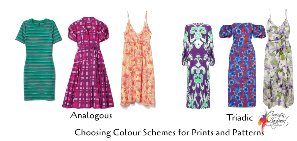 Prints and Patterns Analogous and Triadic