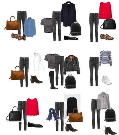 Variations with black jeans