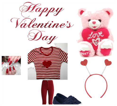happy valentines day!!My valentines day outfit
