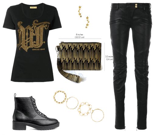 Black and Gold Casual