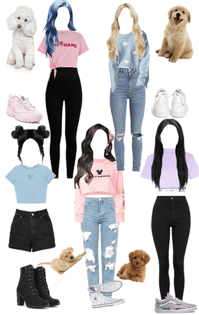 Petting Dogs BUZZ FEED|CHARM OUTFITS