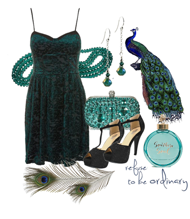 Green Peacock outfit