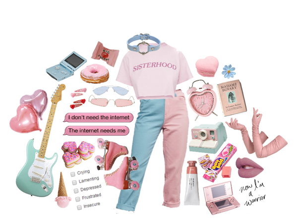 blue n pink aesthetic