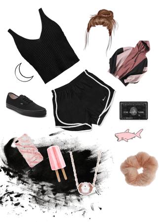 ElizabethStyle Pink And Black