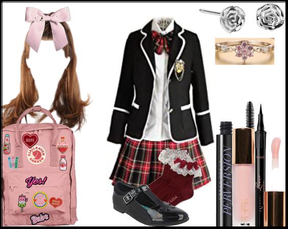 Momoko's Full Uniform Look
