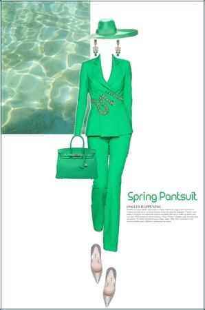 spring pantsuit - green
