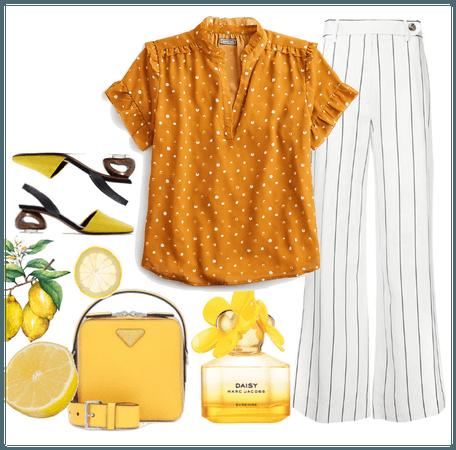 1 top 3 outfit: Lemon edition
