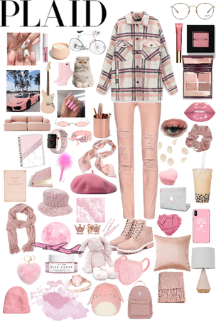pink and plaid