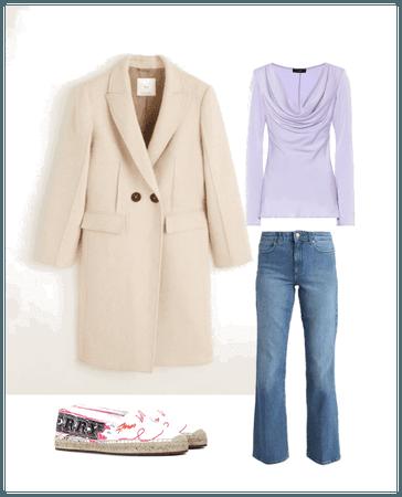 camel coat plus jeans