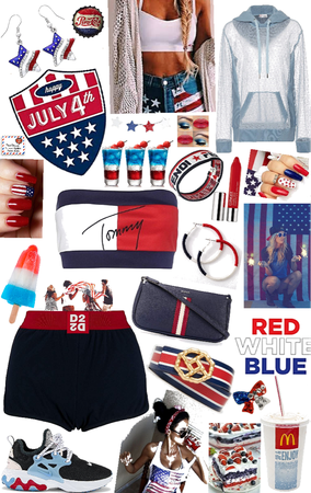 blue red and white