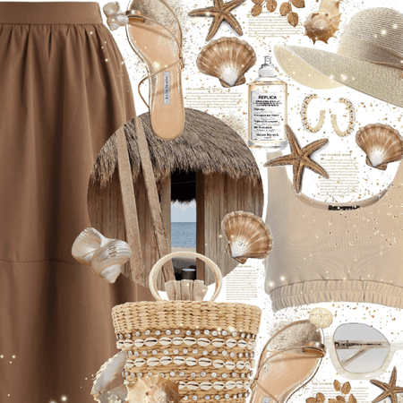 Beach - Two Colors: brown and beige