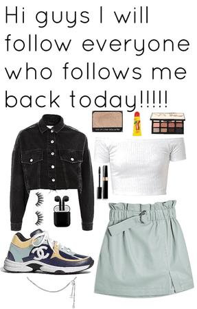 I'll follow everyone who follows me today!!!🤪