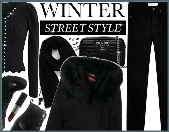 Winter Street Style: Black
