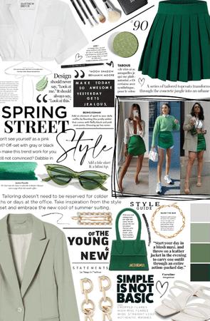 spring street style. 💚