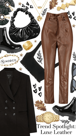 style these pants: faux leather pants