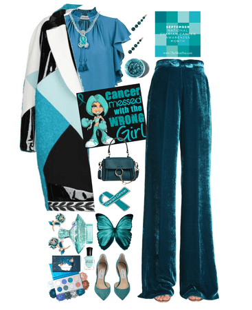 triumphant in teal : ovarian cancer awareness style