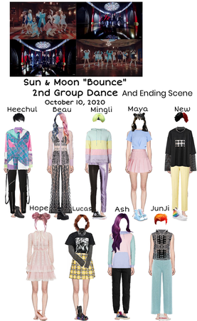 "Sun & Moon ""Bounce"" 2nd Group Dance + Ending Scene"