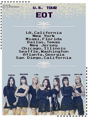 EOT(내일의 황후) | US Tour Poster (Performance Dates)
