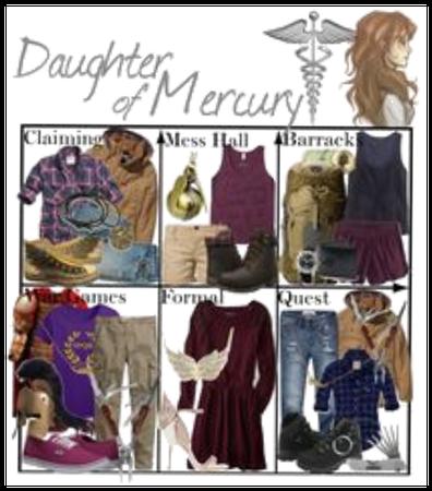 Percy Jackson Oc daughter of Mercury