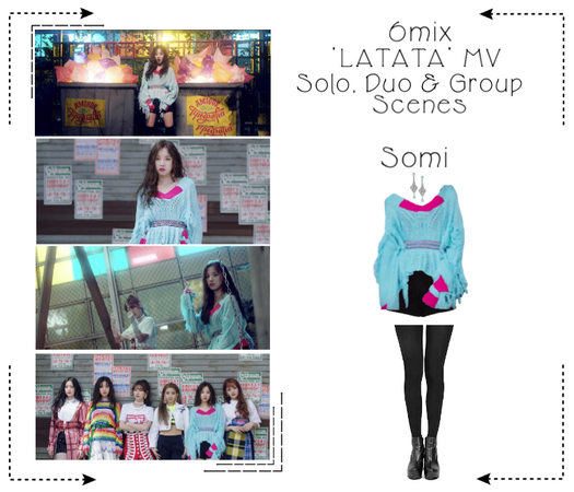 《6mix》'LATATA' Music Video-Somi's 3rd Outfit Scene