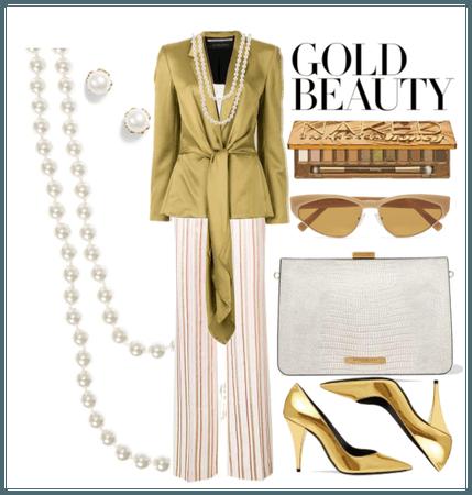 Thin Stripe-Gold Beauty