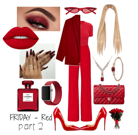 strict business // Monochromatic outfit - RED prt2