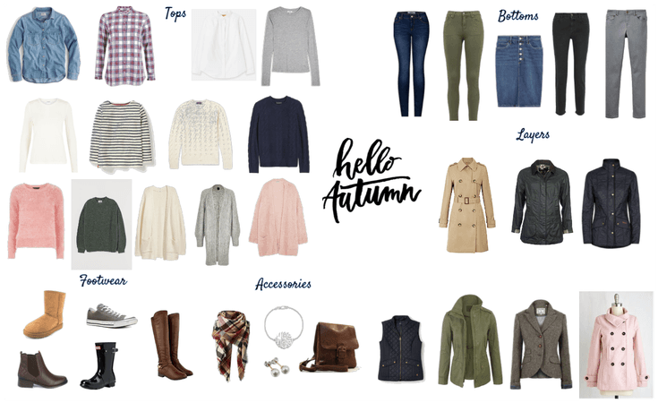 British Country Autumn Capsule wardrobe