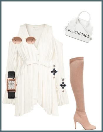 White & Rose Gold